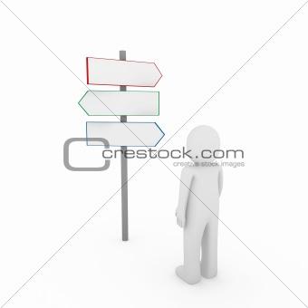3d human way arrow
