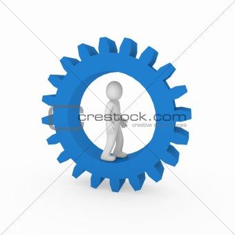 3d gear blue human