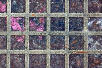 rusty metal squares