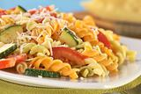 Fusilli with Tomato, Zucchini and Cheese