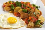 Fried Egg with Fried Vegetables