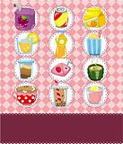 cartoon drink card