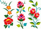 abstract scroll flower pattern