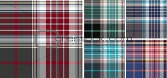 plaid check fabric textile pattern