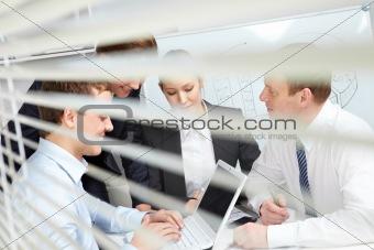 Busy team