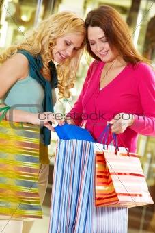 Girlfriends shopping
