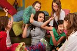 Sleepover Pillow Fight