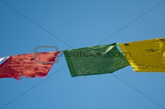 prayer flags of Tibet