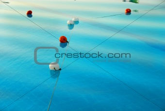 Blue pool water surface