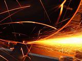 cascade of sparks