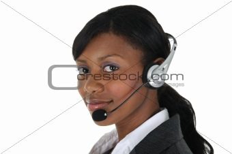 Attractive Business Woman with Headset 09
