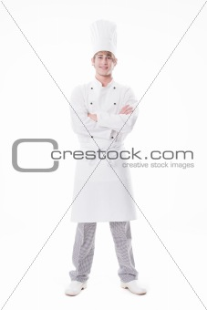 Friendly looking young cook