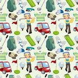 seamless golf pattern
