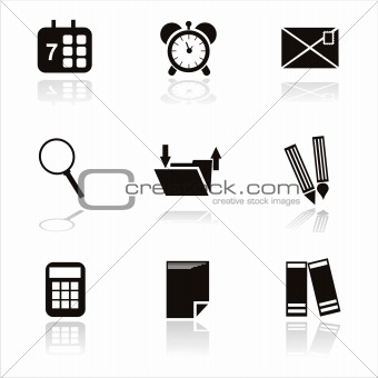 black office tools icons