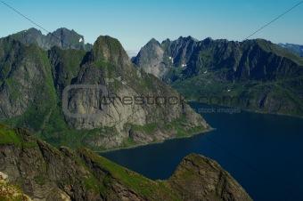 Fjordlandscape on Moskenesoya, Lofoten