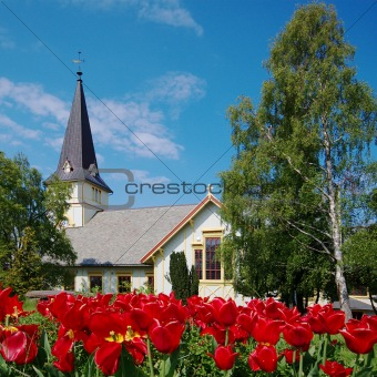 Church in Grimstad, Norway
