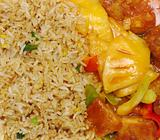 Fried Rice Sweet and Sour from Top