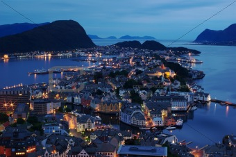 Aalesund at Night