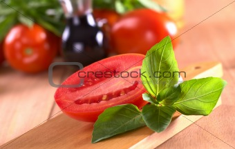 Fresh Basil with Tomato
