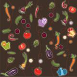 Seamless background with vegetable