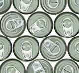 aluminum cans and ring pull for background