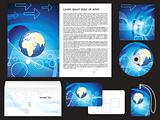 abstract digital corporate id