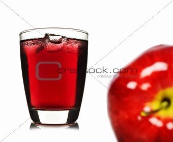 Fresh apple and apple juice