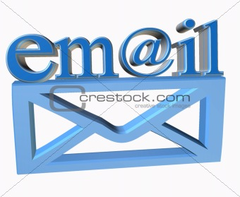 3d email text and envelope