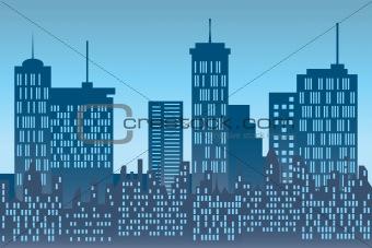 Skyscrapers at urban skyline