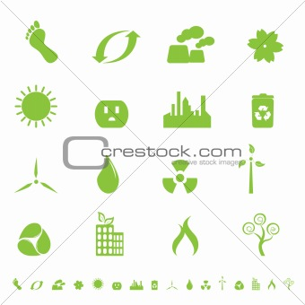 Green ecology and environment symbols