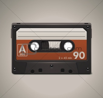 Vector audio cassette tape XXL icon
