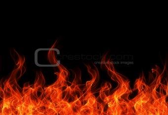 Flame border