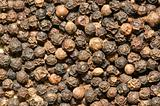 Background of black pepper - extreme close up