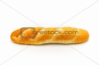 Fresh bread isolated on the white background