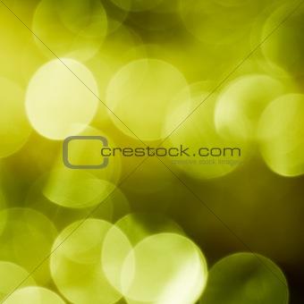 Green spring bokeh