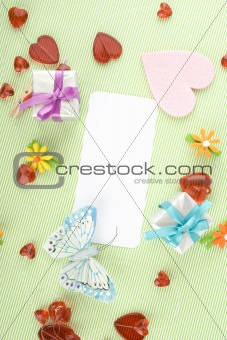 Greeting card for the newborn