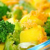 Mango on Fresh Salad
