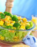Broccoli-Mango-Carrot-Lettuce Salad