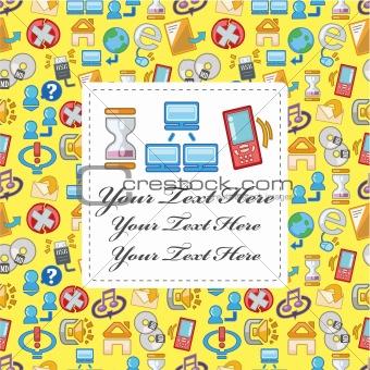 cartoon web card
