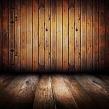 Vintage yellow wooden planks interior