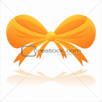 bow isolated on white