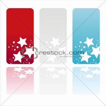 american colored stars banners