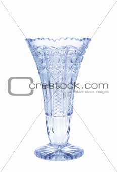 Antique vase - crystal glass isolated on white background