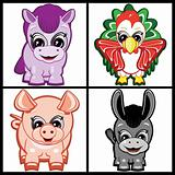 Vector Set of Little Animals - Farm.