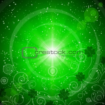Abstract green background for St. Patrick's Day.