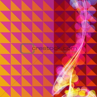 Abstract retro mosaic vector background