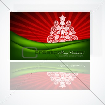 Beautiful Christmas gift card, vector illustration.