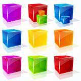 Vector cubes.