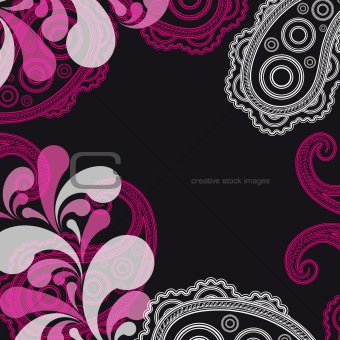 abstract paisley background with place for your text 