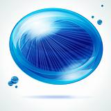 Vivid blue bubble.
